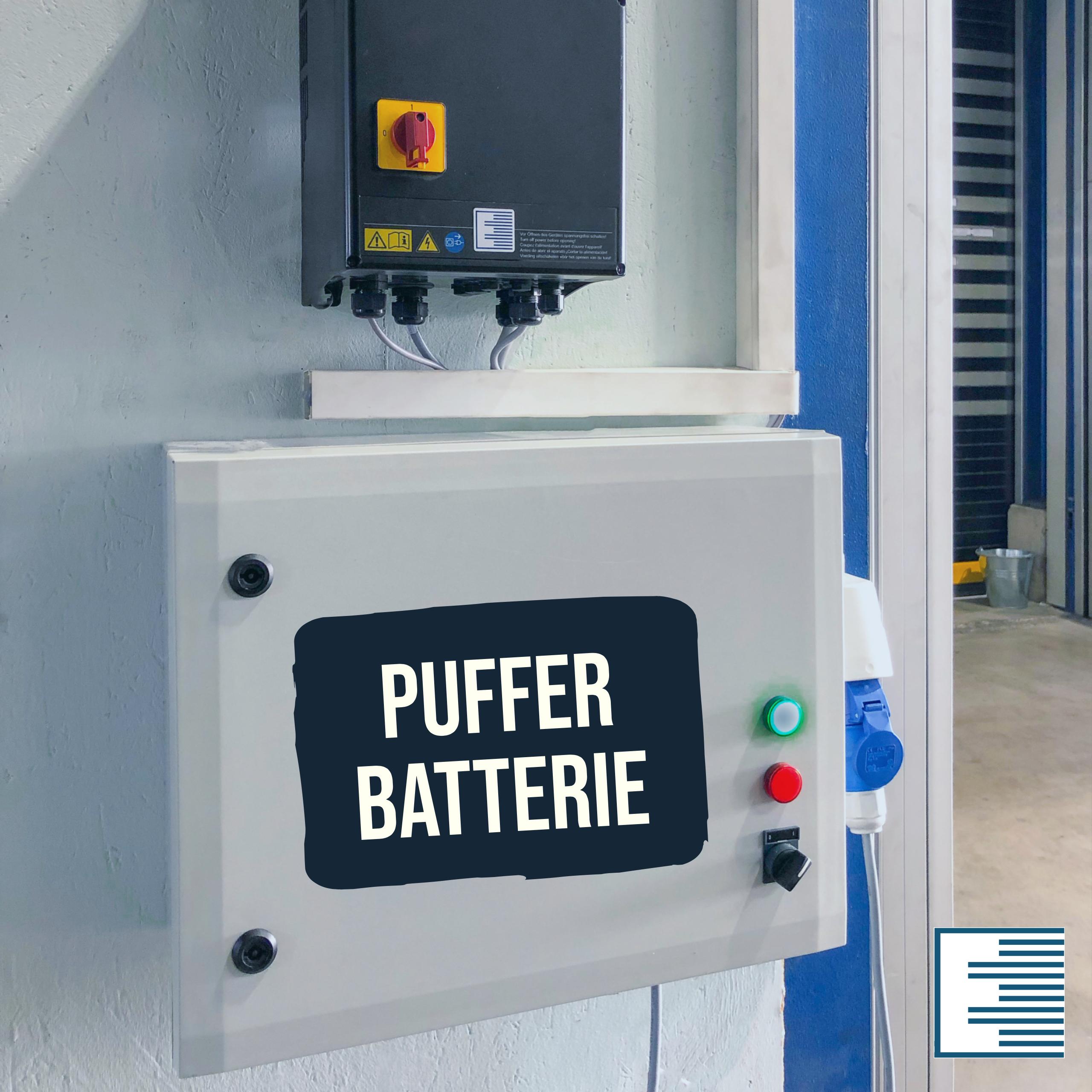 Pufferbatterie für Schnelllauftore (Notöffnung)